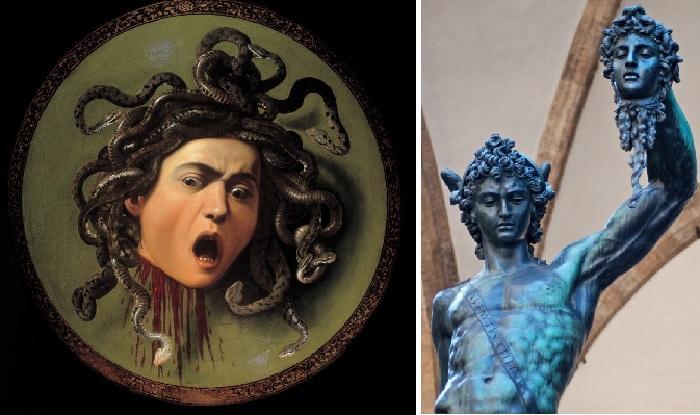 Голова горгоны Медузы. М.Караваджо. / Персей с головой Медузы.