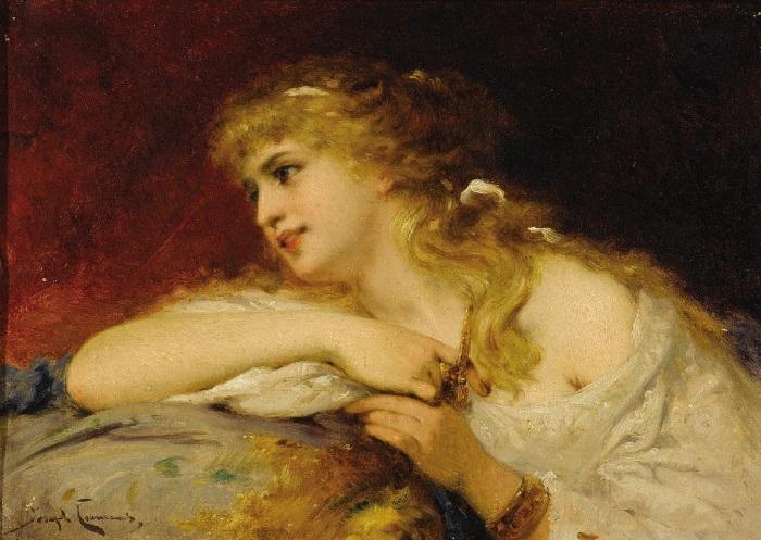 Женский портрет. Автор: Жозеф Команс.
